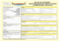 Mains Pressure Hot Water Cylinder Commissioning Checklist (Personalised) Pad 26